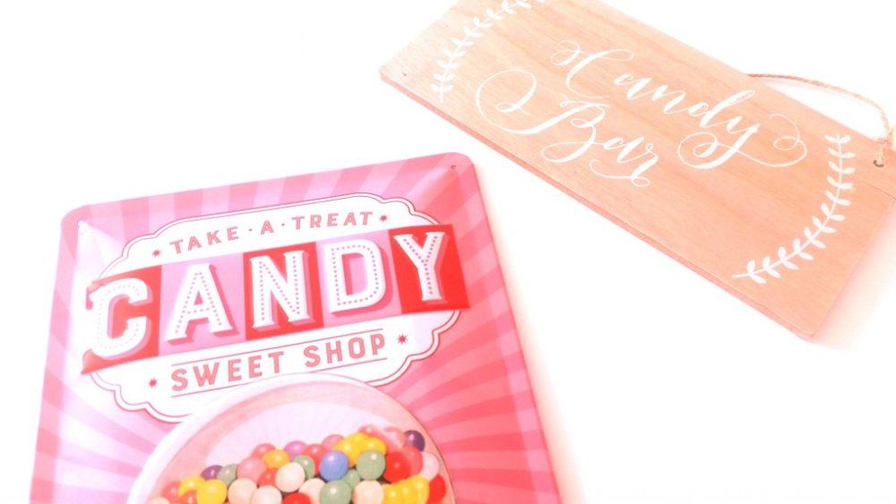 Candy Bar Schild, candy bar schilder