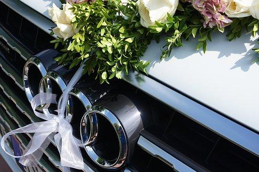 deko auto hochzeit