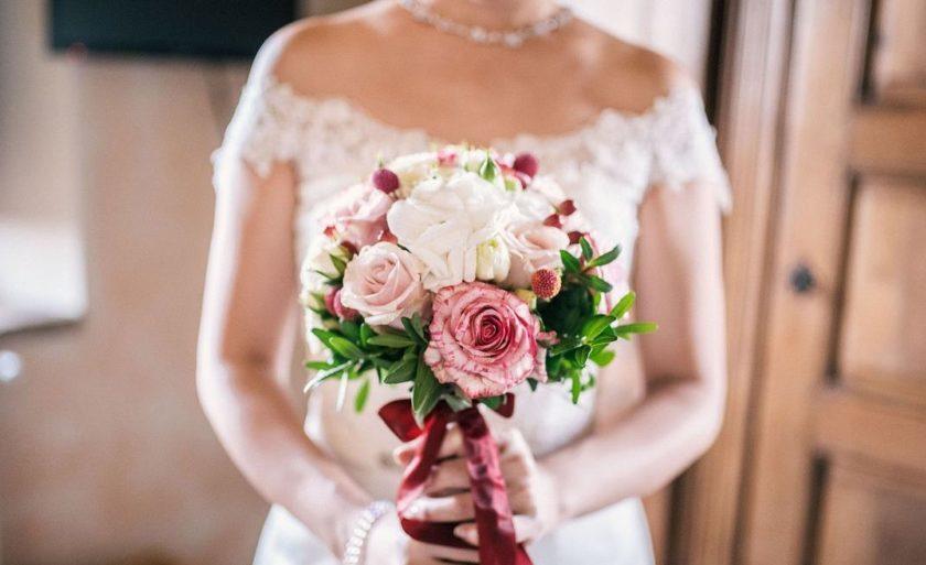 1x Strauss Künstlich Blumen Kunstblumen für Deko Hochzeit Braut 18cm