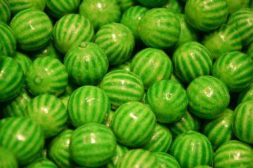 Grüne Candys für eine grüne Candybar