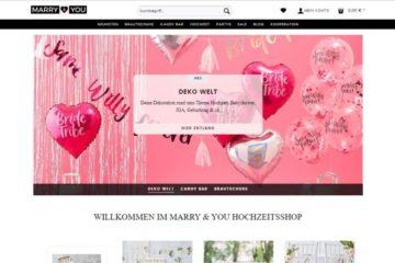 Webseite von marryandyou.de